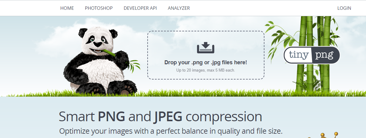 TinyPNG - strona służąca do optymalizacji obrazków na stronie internetowej